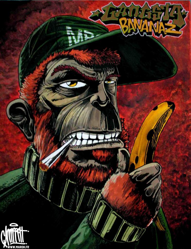 Maroh---Gangsta-Bananaz---2010---45x70cm