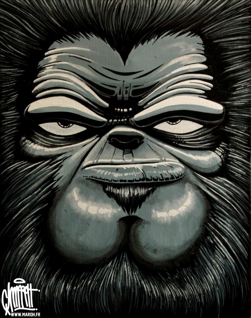 Maroh---Monkey-patron----2010---30x40cm