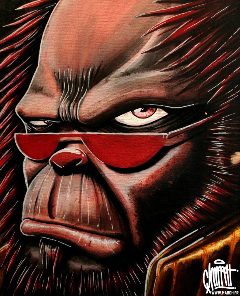 Maroh---Monkey-red---2010---30x40cm