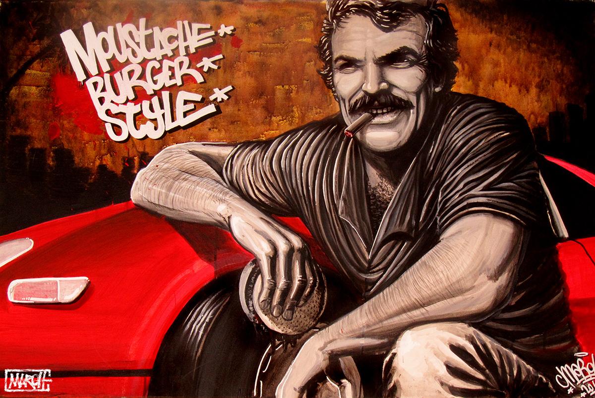Maroh---Moustache-Burger-Style---2011---1mx70cm